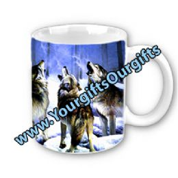 Wolf Mugs Personalised Wolf Themed Mug  FREE Of Charge | Wolf Gifts | Fantasy Wolves Gifts | Wolves On A Mug